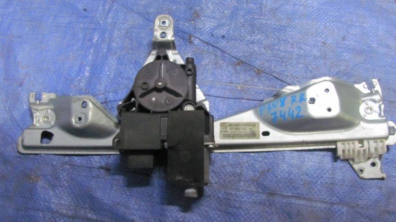 Стеклоподъемник Peugeot 308 EP6 2007 задний правый