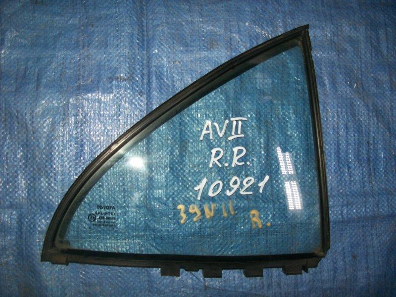 Форточка двери Toyota Avensis AZT250 1AZ-FSE 2003 задняя правая