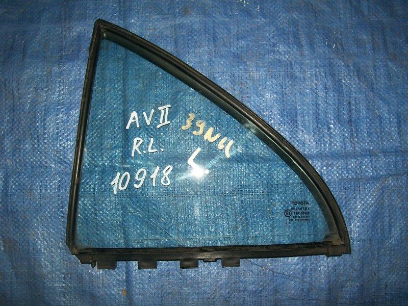 Форточка двери Toyota Avensis AZT250 1AZ-FSE 2003 задняя левая