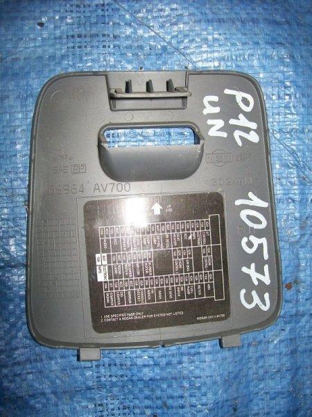 Крышка блока предохранителей Nissan Primera P12 QG18 2002