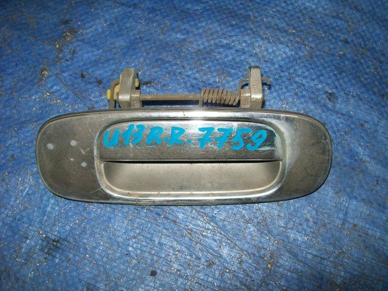 Ручка двери наружняя Nissan Bluebird U13 SR18DE 1993 задняя правая