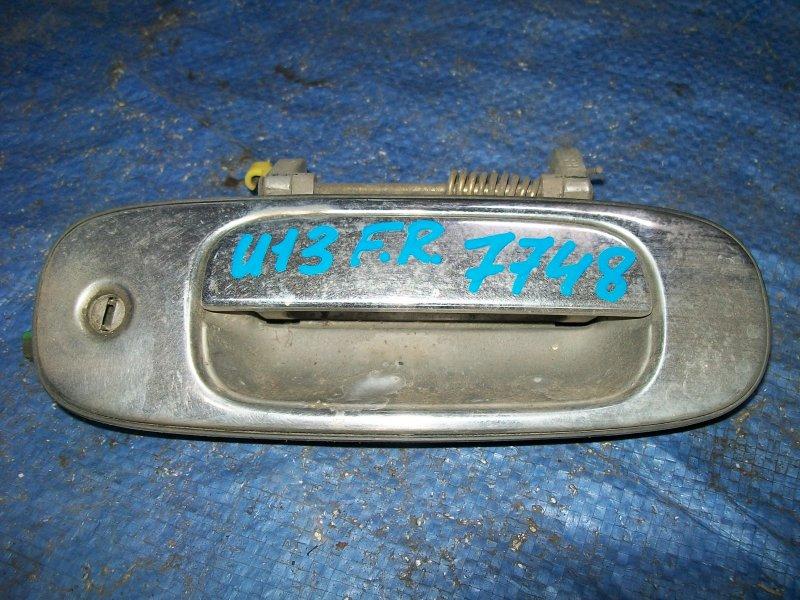 Ручка двери наружняя Nissan Bluebird U13 SR18DE 1993 передняя правая
