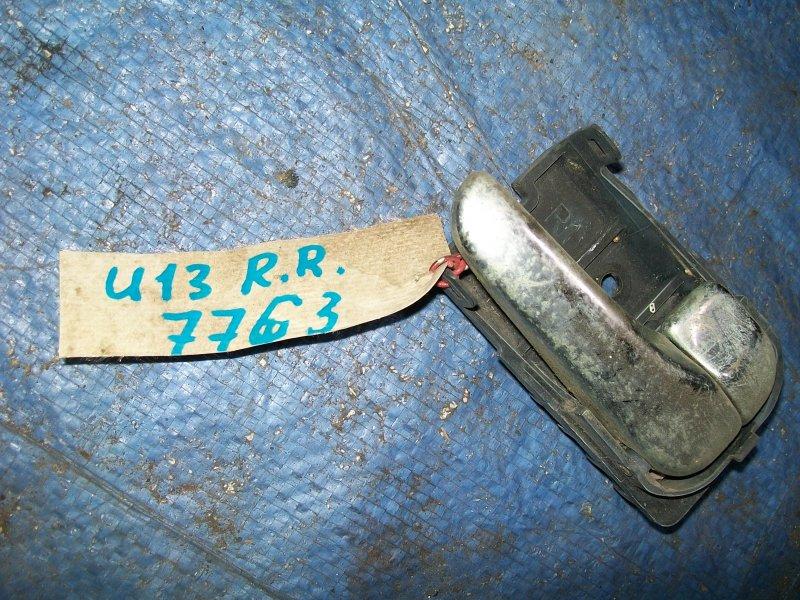 Ручка двери внутренняя Nissan Bluebird U13 SR18DE 1993 задняя правая
