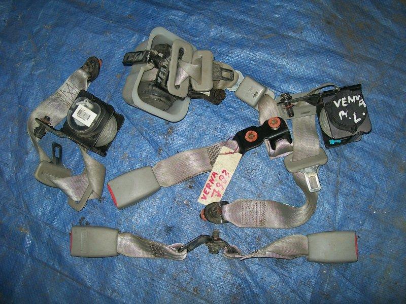 Ремень безопасности Hyundai Verna G4EE 2007 задний