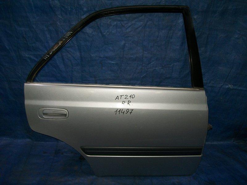 Дверь Toyota Carina AT210 4AGE 1998 задняя правая