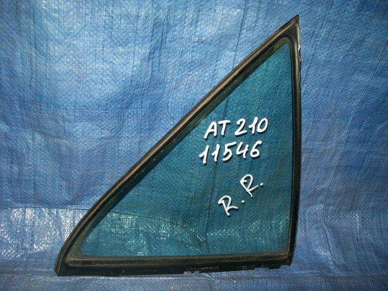 Форточка двери Toyota Carina AT210 4AGE 1998 задняя правая