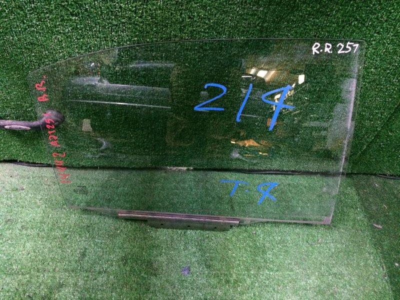 Стекло двери Toyota Avensis AZT251 2AZ-FSE 2008 заднее правое