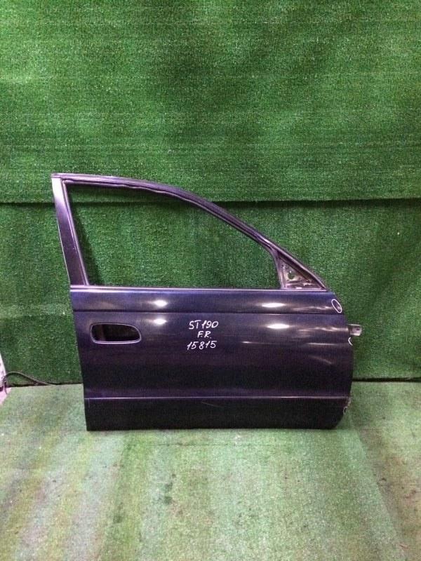 Дверь Toyota Corona ST190 3SFE 1995 передняя правая