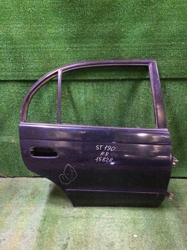 Дверь Toyota Corona ST190 3SFE 1995 задняя правая