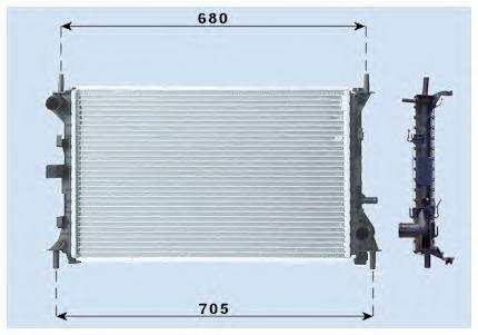 Радиатор основной Ford Focus 98