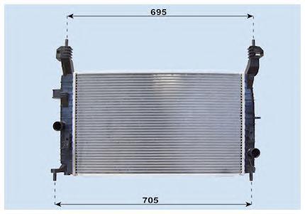Радиатор основной Opel Meriva