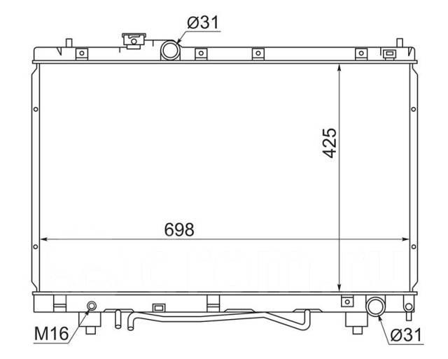 Радиатор основной Toyota Picnic #XM1# 3S-FE 96