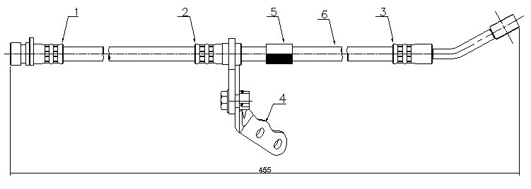 Шланг тормозной Honda Civic 94 правый