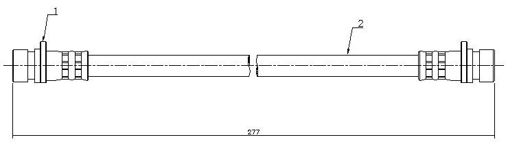 Шланг тормозной Honda Civic 91