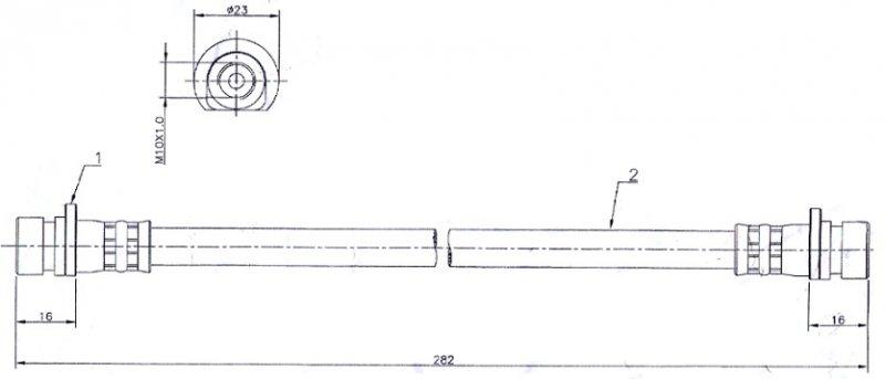 Шланг тормозной Honda Crv RD1 задний