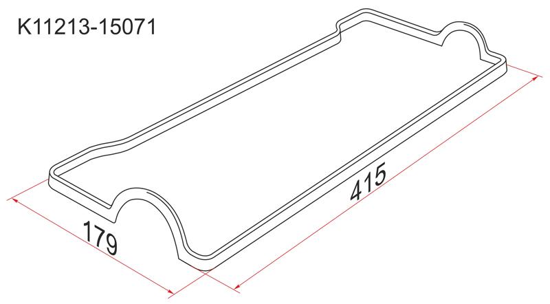 Прокладка клапанной крышки Toyota Avensis 4A