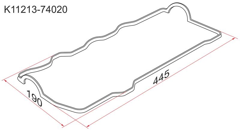 Прокладка клапанной крышки Toyota Avensis