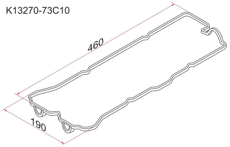 Прокладка клапанной крышки Nissan Sunny GA13DS 91