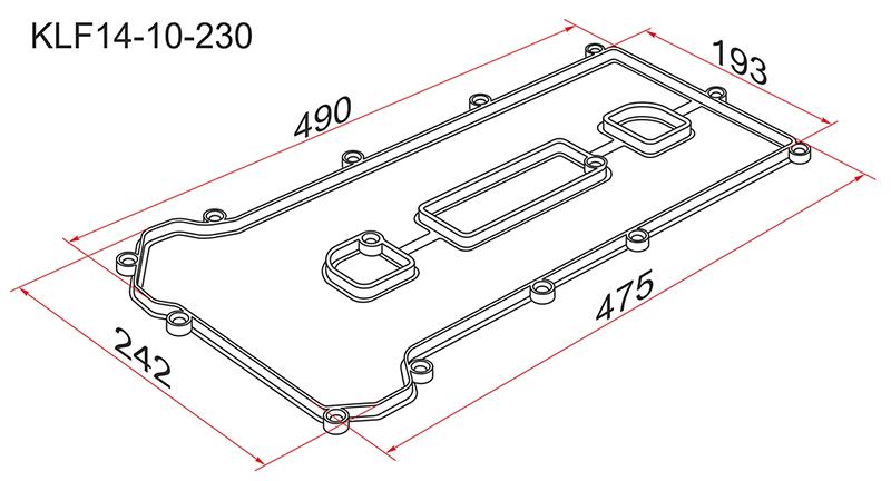 Прокладка клапанной крышки Mazda 6