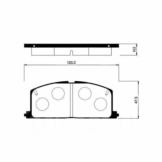 Колодки Toyota Caldina AE-95