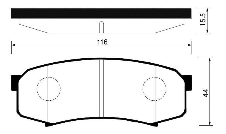 Колодки Toyota Land Cruiser 05 задние
