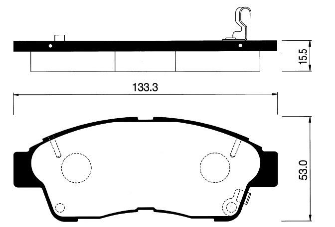 Колодки Toyota Qualis 1MZ задние