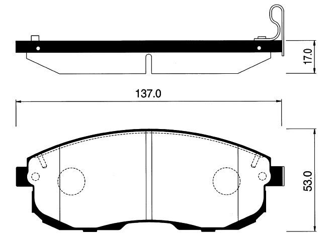 Колодки Nissan 200 HP12