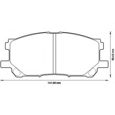 Колодки Toyota Harrier 03