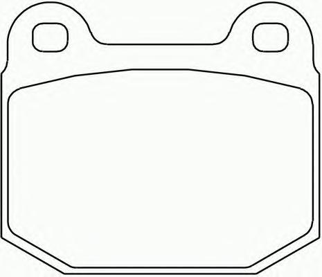 Комплект тормозных колодок Nissan Skyline