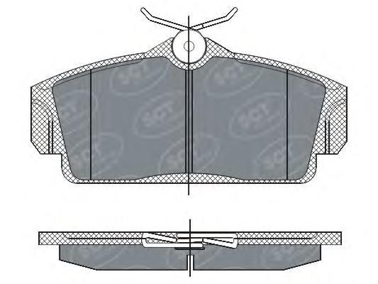Колодки Nissan Almera передние