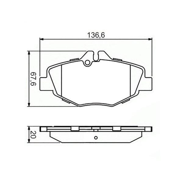 Колодки Mercedes E200 W211 02