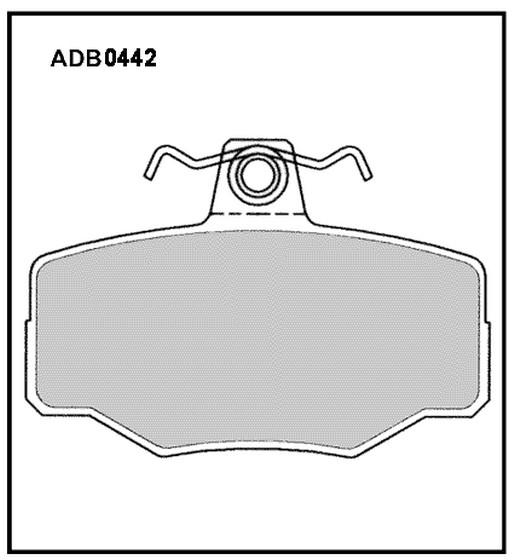 Колодки Nissan Almera N15 задние