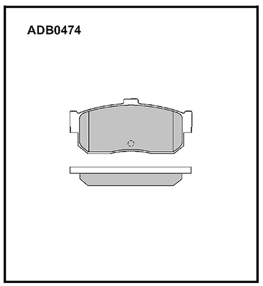 Колодки Nissan Cefiro P11 задние
