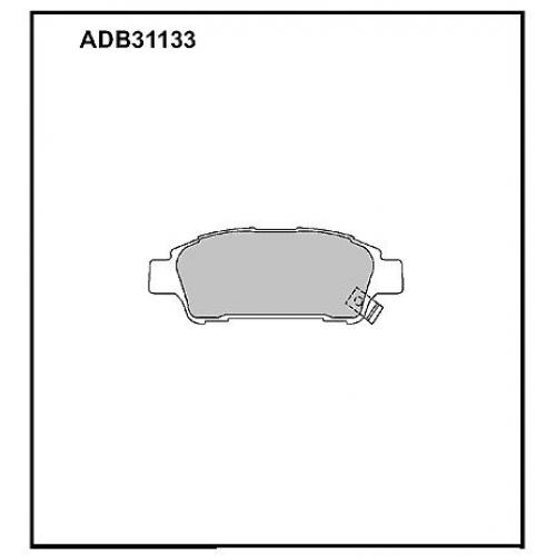 Колодки Toyota Avensis задние