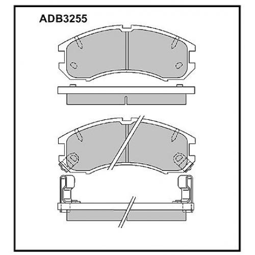 Колодки Mazda 626