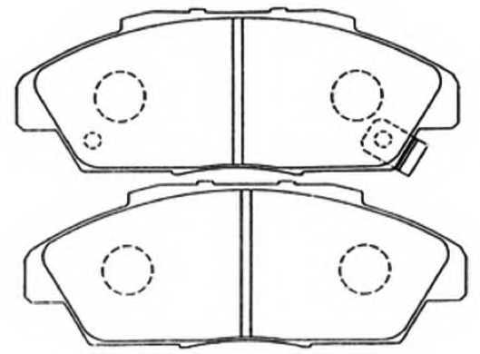 Колодки Honda Accord 97