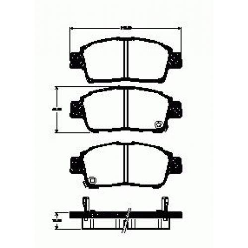 Колодки Toyota Vitz