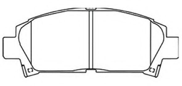 Колодки Toyota Avensis AT170