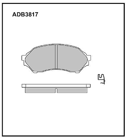 Колодки Mazda Familia BJ#