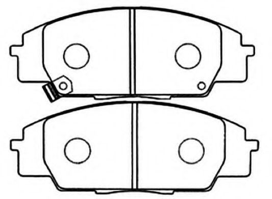 Колодки Honda Accord CF3