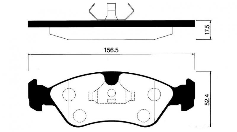 Комплект тормозных колодок Lanos 97- / Nexia 95-97 / Opel Astra F 92-98