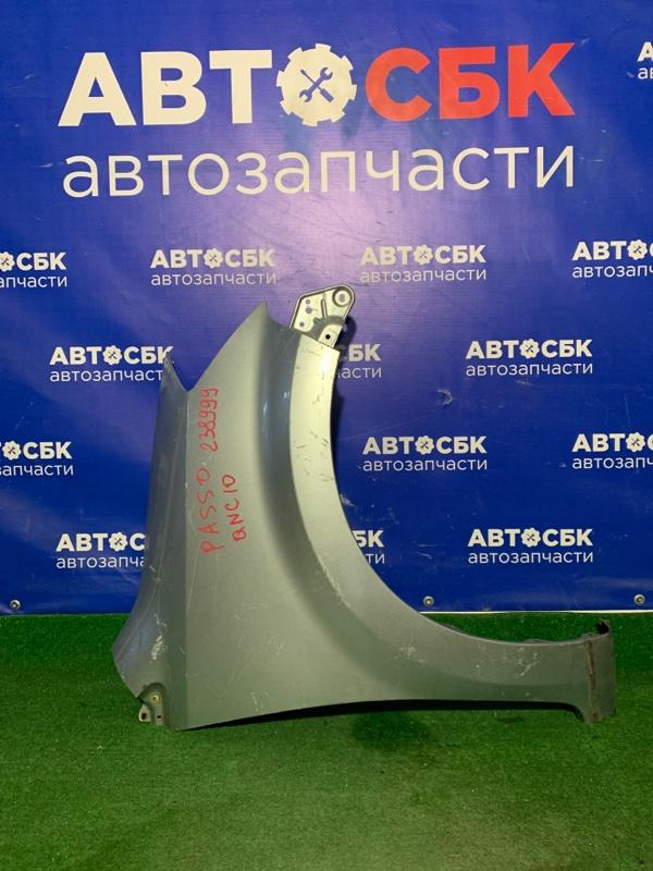 Крыло Toyota Passo KGC10 1KRFE переднее правое