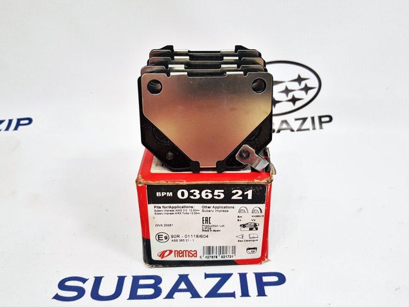 Тормозные колодки Subaru Impreza G11 2000 заднее