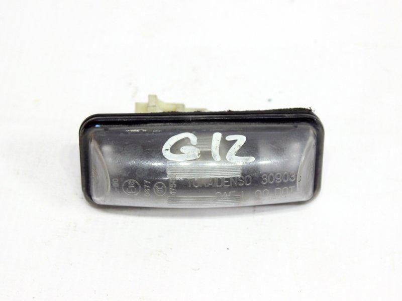Фонарь подсветки номера Subaru Impreza G12 2008 задний