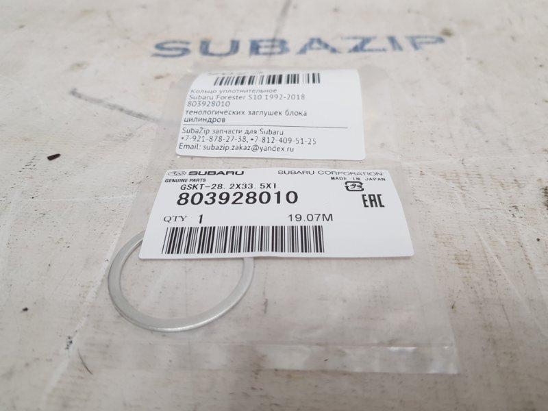 Кольцо уплотнительное Subaru Forester S10 1992