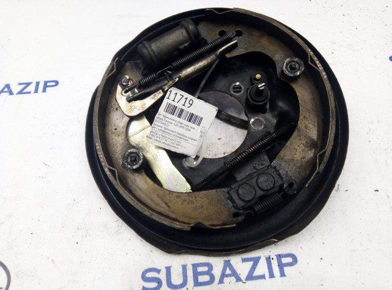 Щит тормозной в сборе Subaru Forester S10 1989 задний правый