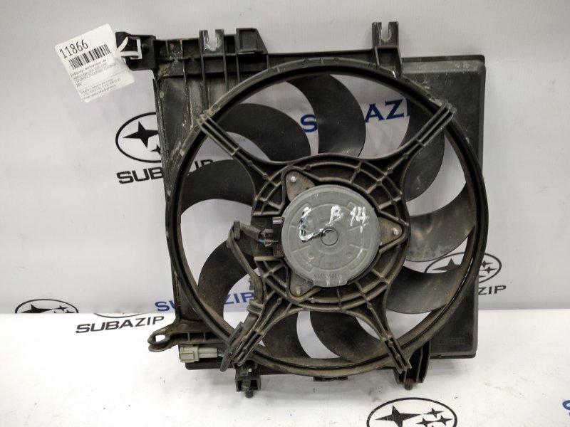 Диффузор с вентилятором Subaru Legacy B14 2009 левый