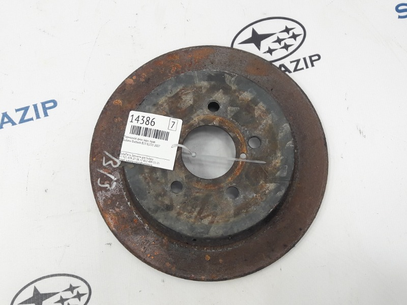 Тормозной диск Subaru Outback B13 EJ253 2007 задний правый
