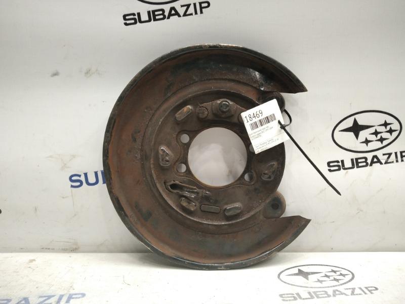 Щит тормозной Subaru Legacy B12 1997-2009 задний левый