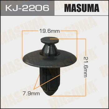 Клипса пластиковая masuma MASUMA kj2206